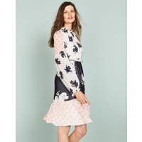 Jemima Ruffle Dress Ivory Women Boden, Ivory