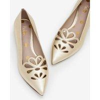 Eloise Flats Gold Women Boden, Gold