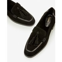 Aria Shearling Loafers Black Women Boden, Black