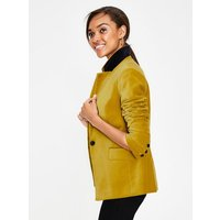 Velvet Longline Blazer Yellow Women Boden, Yellow