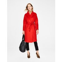 Lindfield Wrap Coat Red Women Boden, Navy