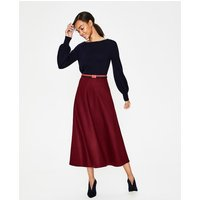British Tweed Midi Skirt Purple Women Boden, Burgundy