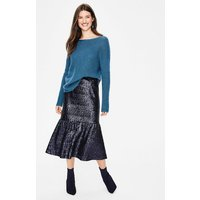 Sequin Midi Skirt Navy Women Boden, Navy