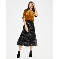Frome Midi Skirt Black Women Boden, Black