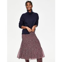 Frome Midi Skirt Brown Women Boden, Burgundy
