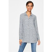 Drop Hem Blouse Grey Women Boden, Grey
