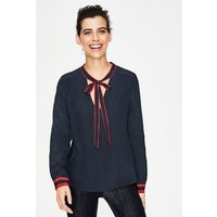Riley Blouse Navy Women Boden, Navy