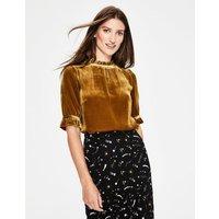 Adora Velvet Top Gold Women Boden, Gold