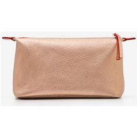 Small Leather Washbag Gold Women Boden, Gold Pink