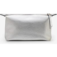 Small Leather Washbag Silver Women Boden, Silver