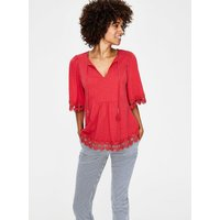 Ayla Jersey Top Red Women Boden, Red
