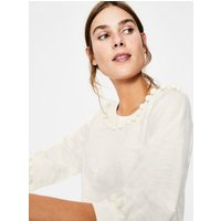 Rosemary Jersey Top Ivory Women Boden, Ivory