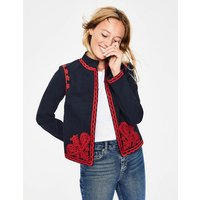 Lisbon Embroidered Jacket Navy Women Boden, Navy