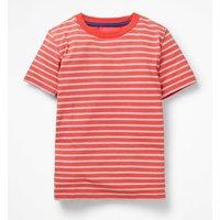 Slub Washed T-shirt Red Boys Boden, Blue