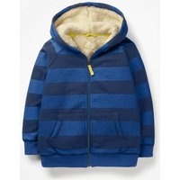 Shaggy-lined Zip-up Hoodie Blue Boys Boden, Blue