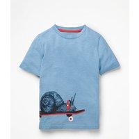 Graphic Animal T-shirt Blue Boys Boden, Blue