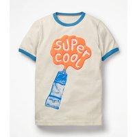 Paint Splash T-shirt Ivory Boys Boden, Beige