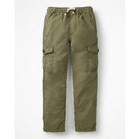 Lightweight Cargo Trousers Green Boys Boden, Green