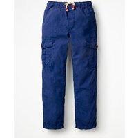Lightweight Cargo Trousers Blue Boys Boden, Blue
