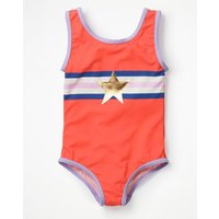 Applique Swimsuit Red Girls Boden, Red