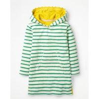 Stripy Towelling Beach Dress Green Girls Boden, Green