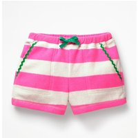Towelling Shorts Pink Girls Boden, Ivory