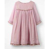 Sparkly Ruffle Chiffon Dress Purple Girls Boden, Red