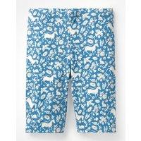 Jersey Knee Shorts Blue Girls Boden, Blue