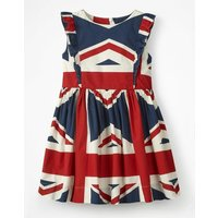Mini Jack Dress Navy Girls Boden, Navy