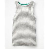 Lace Trim Ribbed Vest Grey Girls Boden, Grey