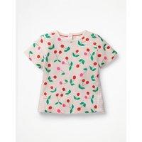 Hotchpotch Printed T-shirt Pink Girls Boden, Pink