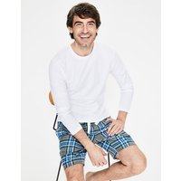 Brushed Cotton Pyjama Shorts Grey Men Boden, Green