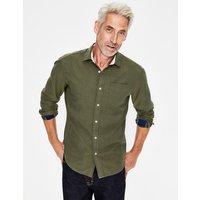 Double Cloth Shirt Navy Men Boden, Green