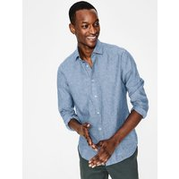 Linen Cotton Shirt Blue Men Boden, Blue