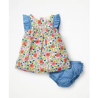 Floral Woven Dress Multi Baby Boden, Multicouloured