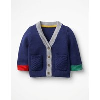 Hotchpotch Knitted Cardigan Blue Baby Boden, Blue
