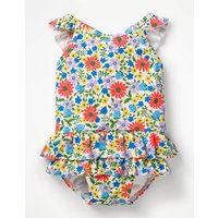 Pretty Frill Swimsuit Multi Baby Boden, Blue