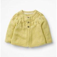 Cosy Cardigan Yellow Baby Boden, yellow