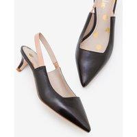 Florrie Kitten Heel Slingbacks Black Women Boden, Black