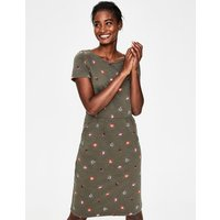 Phoebe Jersey Dress Khaki Women Boden, Khaki