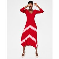Juliet Jersey Midi Dress Red Women Boden, Red