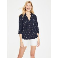 Gemma Jersey Top Blue Women Boden, Navy