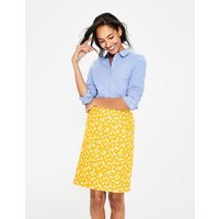 Printed Cotton A-line Skirt Yellow Women Boden, Red