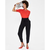 Melina Paperbag Trousers Black Women Boden, Black