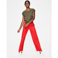 Exeter Wide Leg Trousers Red Women Boden, Red