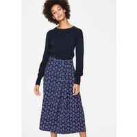 Saskia Midi Skirt Blue Women Boden, Brown