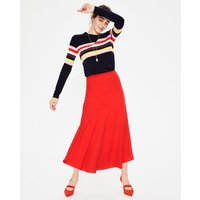 Alina Midi Skirt Red Women Boden, Red