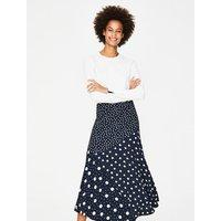Alina Midi Skirt Blue Women Boden, Ivory