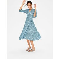 Aurora Midi Wrap Dress Blue Women Boden, Blue