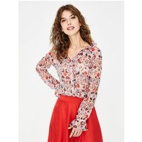 Stephanie Silk Blouse Pink Women Boden, Pink